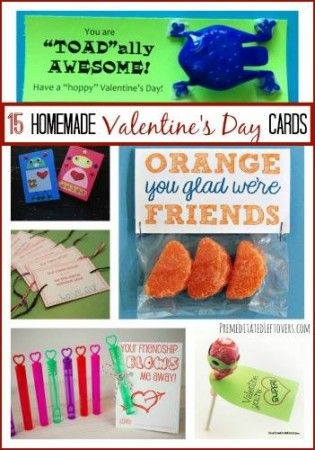 15 Homemade Valentine's Day Cards for Kids - to help your child create handmade Valentine's Day cards, here are tutorials for easy DIY Valentines.