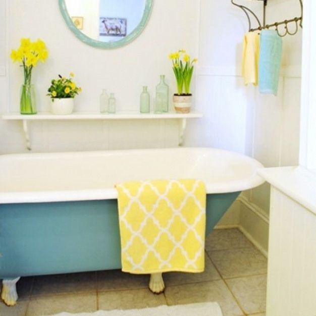 Painted Claw Foot Tub Transform The Outside Of Your Tub With A