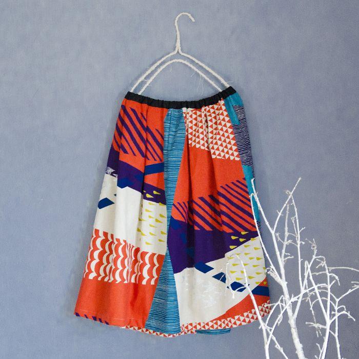 Lovely skirt   Kocka fabric dot-com   fun living starting from cloth   kokka-fabric.com