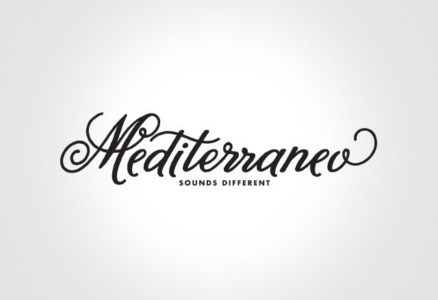 "Logo design for ""Mediterraneo"" events @ Tartana Club in Follonica (LI)."