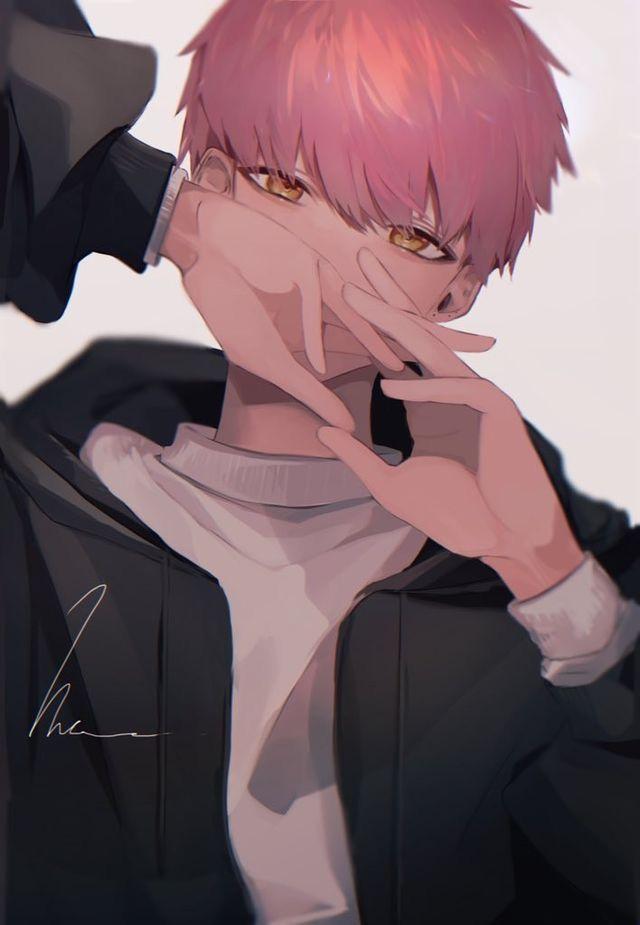 Pin By Lee On Anime Guys Cute Anime Guys Pink Hair Anime Anime