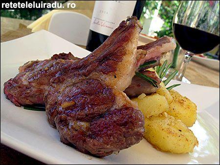 Lamb chops with rosemary