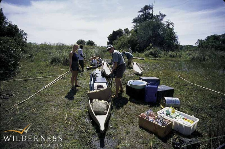 Humble beginnings – Preparing for a mokoro trail in the heart of the Okavango. Click on the image for the full story.