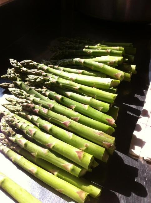 (C) Dom Brown - Wye valley asparagus fresh in @Mark Hix fish house today http://pic.twitter.com/IozahvZC
