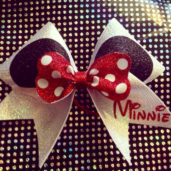 "3"" Cheerleading Cheer Bow Minnie Mouse Disney Inspired on Etsy, $14.00"