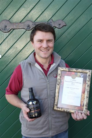 Winemaker, Abraham van Heerden, with CAPPA Port & Wine Challenge 2013 ~ Gold Award