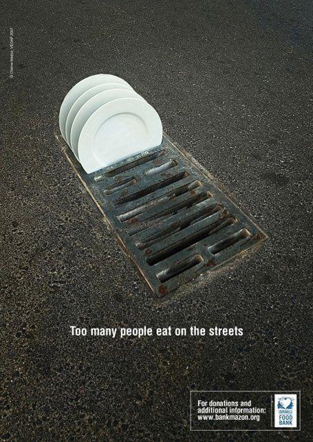 """Campanha para o """"Bank Food"""": """"Muitas pessoas comem nas ruas"""""""