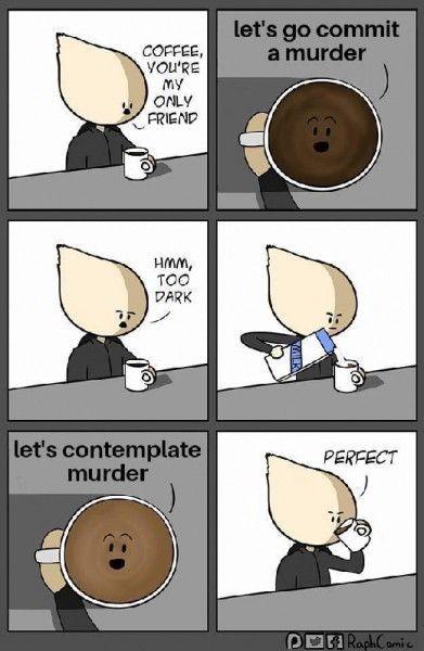 Dark Morning Coffee - https://shareitsfunny.com/dark-morning-coffee/ - Funny Cartoons on  Share Its Funny  #darkmorningcoffee