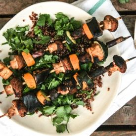 Miso-glazed veggie kebabs are a perfect way to use up all those ...