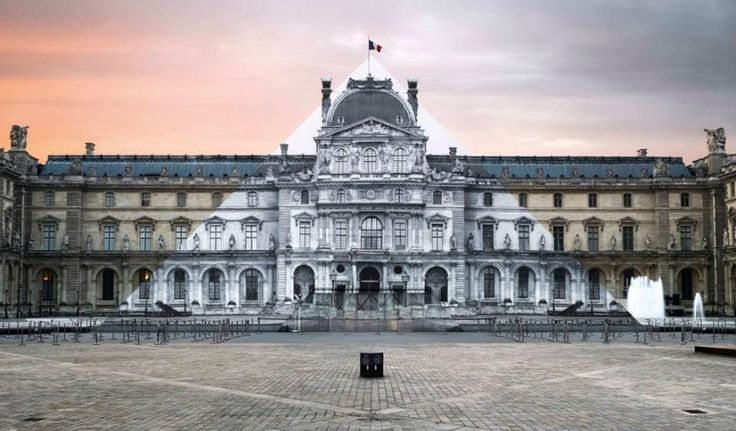French Artist JR Makes the Iconic Louvre Pyramid Disappear