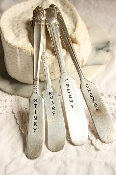 cheese knives, love (gift ideas!) - apply to pottery!