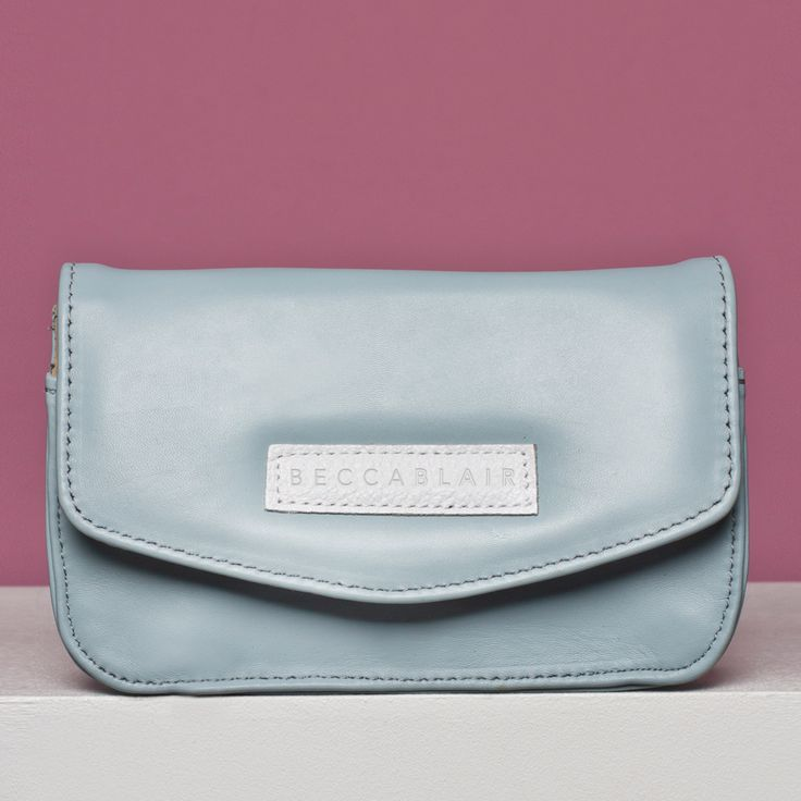 The Jake bag - Dusty Blue Genuine Leather. Made in South Africa.