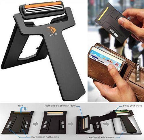 wallet razor