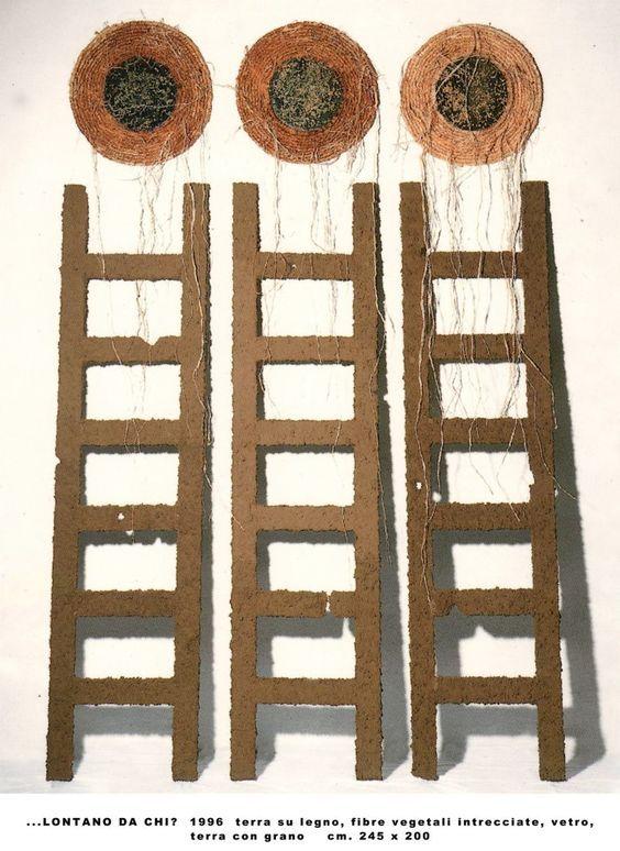 XII Quadriennale Nazionale d'Arte.1996 Italia 1950-1990, Ultime Generazioni, Roma. LONTANO DA CHI?/AWAY FROM WHOM? - 1995 (ground on wood, woven plant fibers, glass, soil and wheat) , 1996 ( Quadriennale di Roma) www.facebook.com/... #artcontemporain #art #conceptualart #contemporaryart #visualart #painting #artgallery #artecontemporanea #artgallery #artcollectors #cosegiaviste #artexhibition #samtidskunst #installation #artecontemporaneo