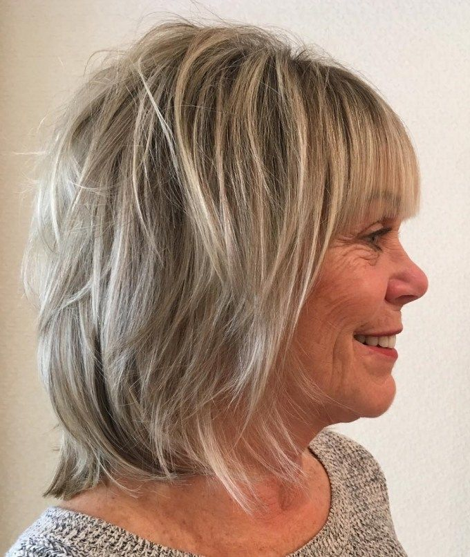 Medium Length Hairstyles Layered Hairstyles For Thin Hair Over 50 3