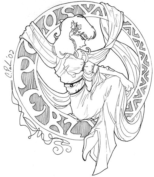 mucha coloring pages SciFi and