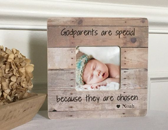 Godparents Godmother Godfather Frame  Baptism Frame Dedication Baptism Gift