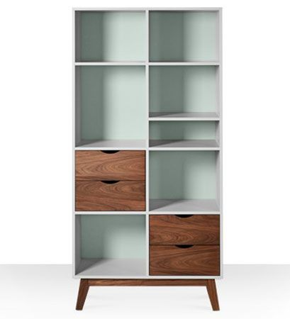 Clifford midcentury-style bookcase at Swoon Editions