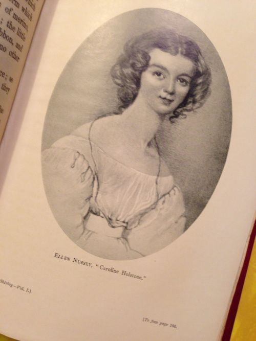 """A portrait of Charlotte Bronte's best friend Ellen Nussey, supposedly the """"original"""" for the character of Caroline in Shirley"""