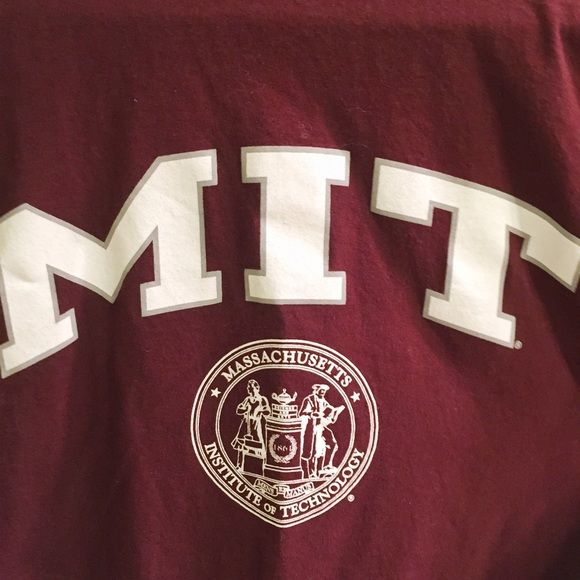 MIT Massachusetts Institute of Technology T-Shirt Excellent condition MIT Massachusetts Institute of Technology College Burgundy / Maroon T-Shirt, Adult Size Small. Champion Authentic Athletic Apparel. Champion Tops Tees - Short Sleeve