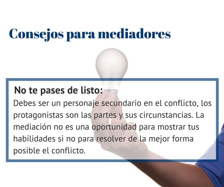 #Consejos para #mediadores: No te pases de listo... ¡no eres el protagonista de la situación! http://www.cedeco.net/mediacion/
