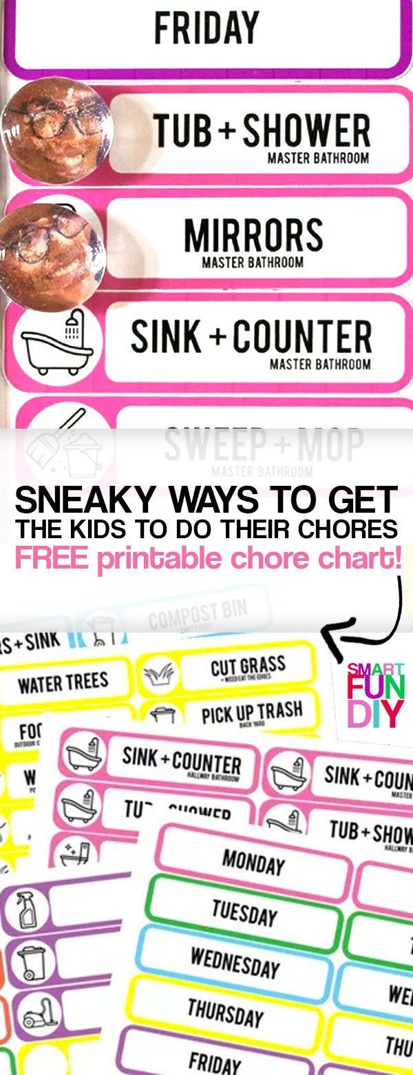 DIY chore chart printable - the last chore chart you will ever need to make! Grows and changes with your kids- free printable chore chart download