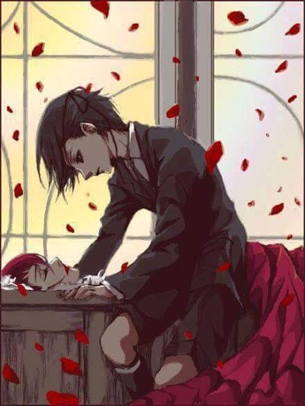 """""""White flowers and dull dresses never suited you in life, nor do they do in death. You belong in Red the color of Passion. Farewell Madame Red."""" - Ciel Phantomhive"""