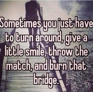 Know when to burn it and when to let it stand...you might need it one day.
