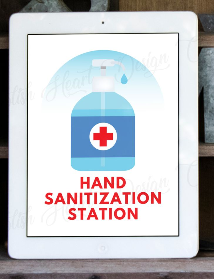 Hand sanitization station printable sign hand sanitizer
