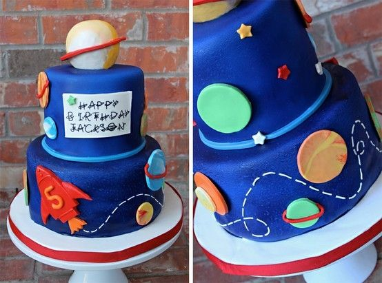 Rocket Ship Birthday Cake by sheena