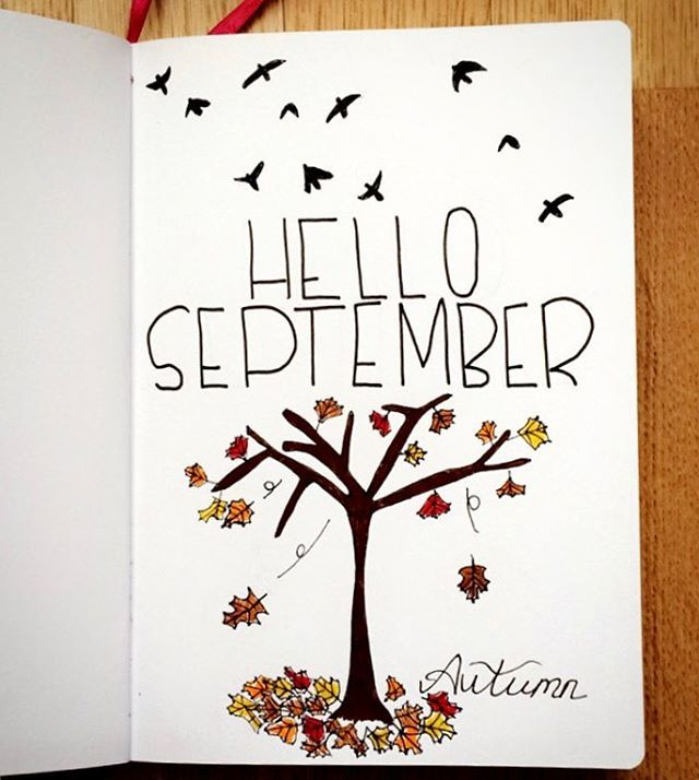 September is here  By far my favourite month  #ItsMyBirthdaySoon  #HelloSeptember See this Instagram photo by @kerryvonbujo bullet journal September cover page