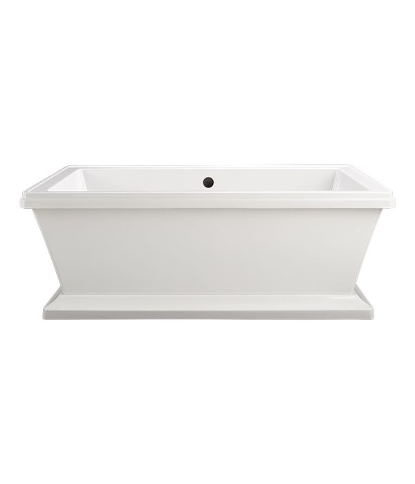 Fitzgerald Freestanding Soaking Tub from DXV. Love the simple clean lines of this tub #DXVlovesNYC #BlogTourNYC