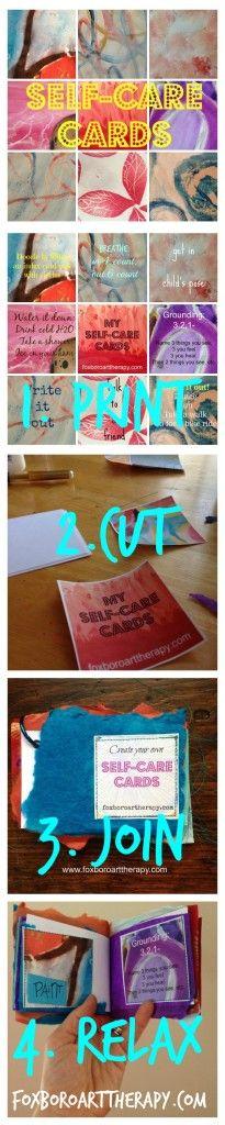 A free printable artsy coping skills book - so fun!