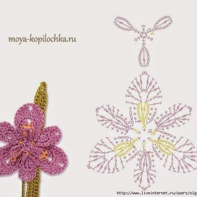 Mejores 3964 imágenes de Crochet > flowers & bouquets --{@ en ...