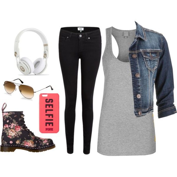 Untitled #36 by blan-xoxo on Polyvore featuring Bench, maurices, Paige Denim, Dr. Martens and Ray-Ban