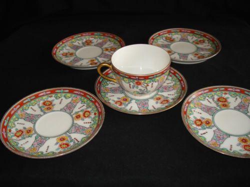 tasse-the-porcelaine-XIXeme-marque-cor-de-chasse-samson-chantilly-decor-kakeimon