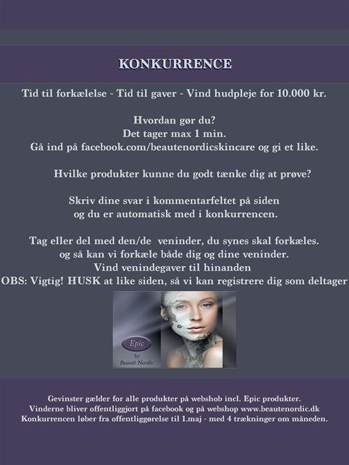 Beautè Nordic - Hudpleje uden parabener Deltag i konkurrencen og vind lækre produkter <3