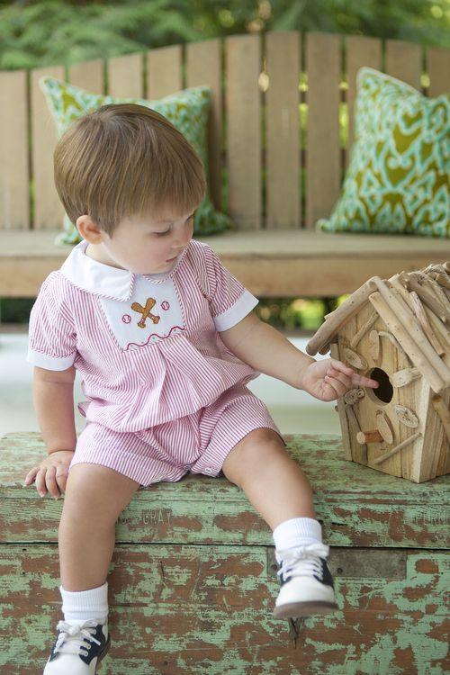 Chest Smocked Bubble - Baseball   Little boy outfits, Baby ...