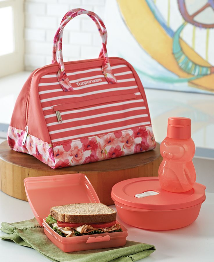 Sweet & Sassy Lunch Set. Pack a power lunch. Insulated bag keeps contents cool. Features zipper pouch and wide-zip opening to fit large containers. Set also includes Pengui Water Bottle, Sandwich Keeper and CrystalWave® 4¼-cup/1.1 L container. Available through September 9 only.