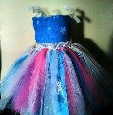 Frozen inspired tutu dress #DarlingDiva  #BlueLotusDynastyBoutique  #Frozen  #Disney #mesoanime #meso.sutajio #iamsarbri