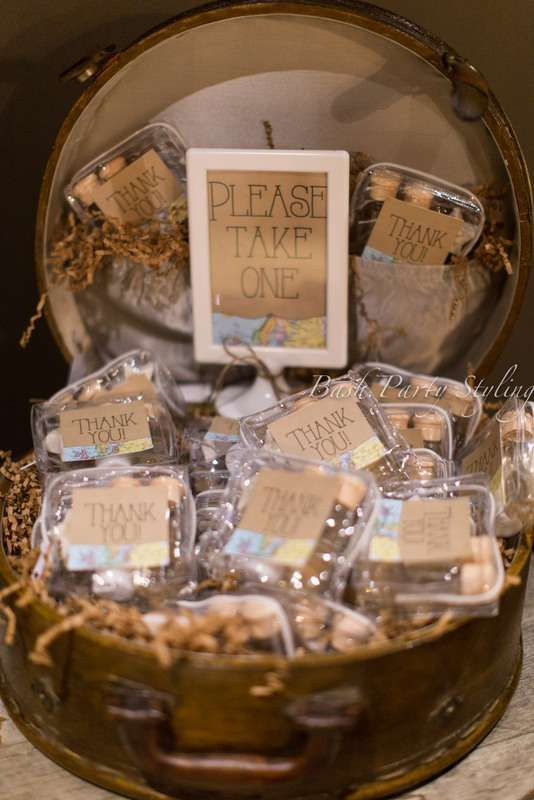 Travel  vintage  Love is a Journey Bridal Wedding Shower Party Ideas   Photo 17 of 19   Catch My Party
