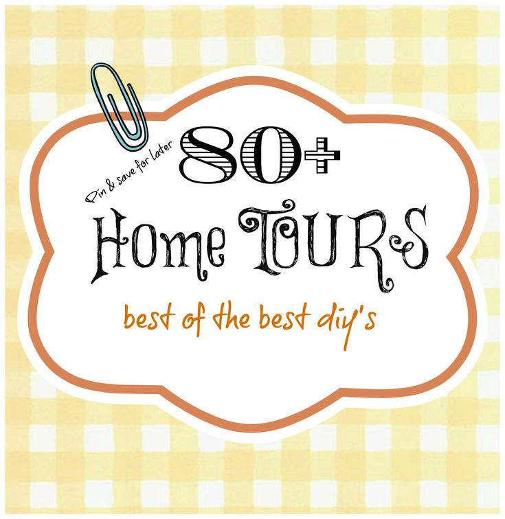 80+ Home tours. Pin and save for later with your morning coffee (tons of home decor ideas!!)