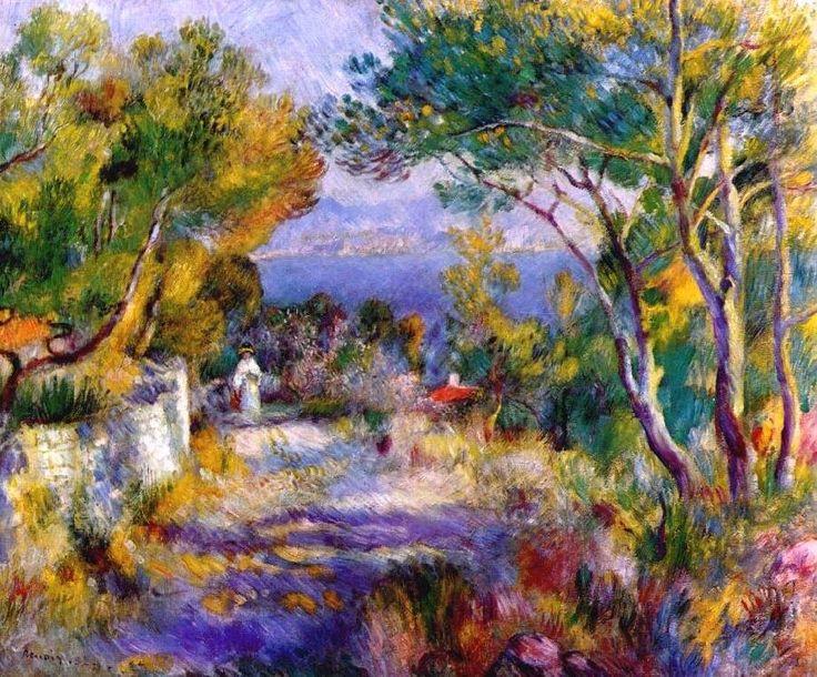 Pierre Auguste Renoir (1841-1919) est un peintre Francais et the nom de cette peinture est L'Estaque.