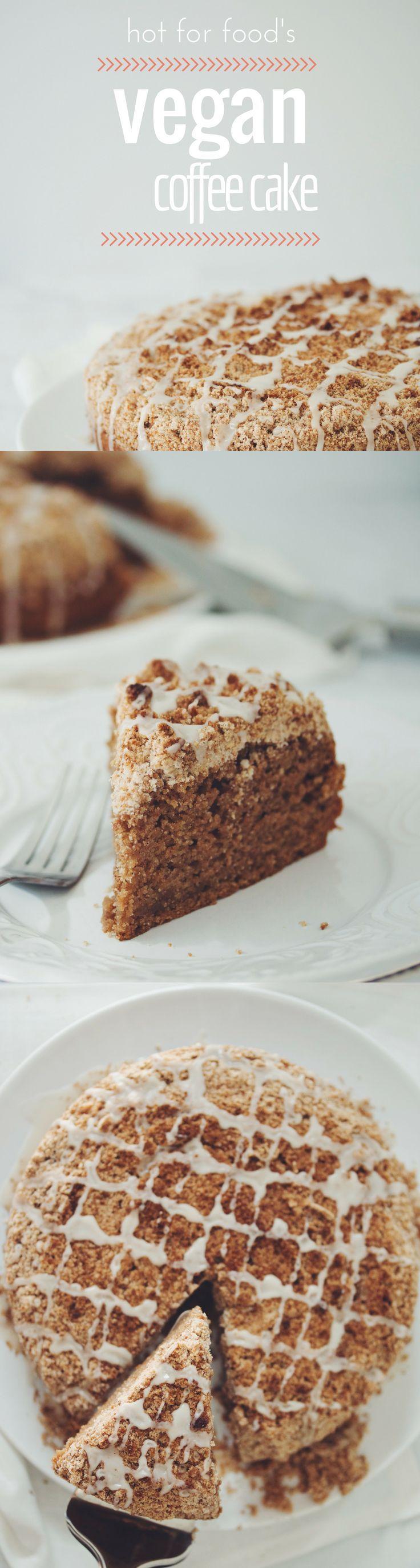 VEGAN COFFEE CAKE   RECIPE on http://hotforfoodblog.com