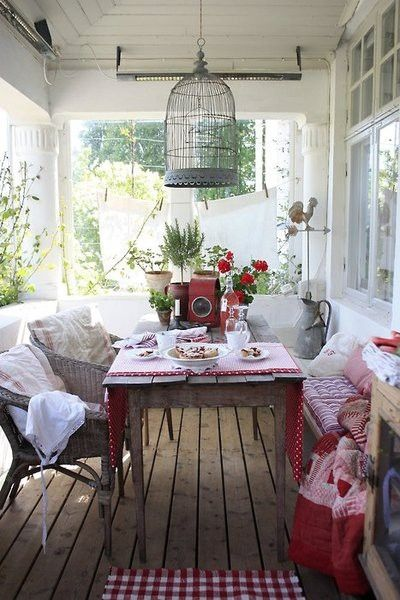 A Country Look... A great porch.
