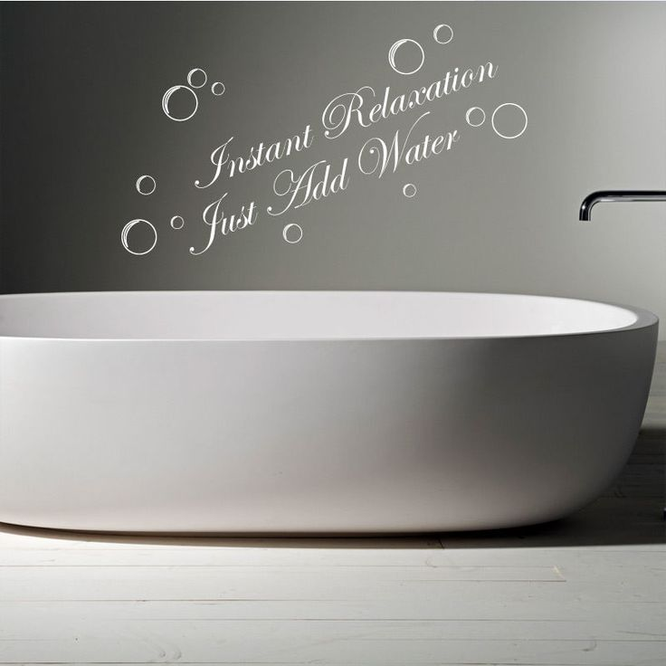 INSTANT RELAXATION JUST ADD WATER Bathroom Words Quotes Wall Sticker Decals    eBay. 17 best images about Bathroom Wall Stickers vinyl decals