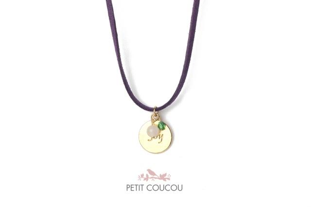 Collar de ante JOY de Petit Coucou, disponible en 18 colores diferentes  www.petitcoucouaccessories.com
