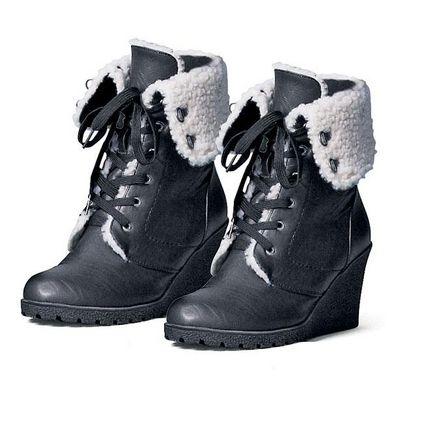 JESSICA®/MD Women's 'Sydnee' Leather-Look Wedge Winter Bootie