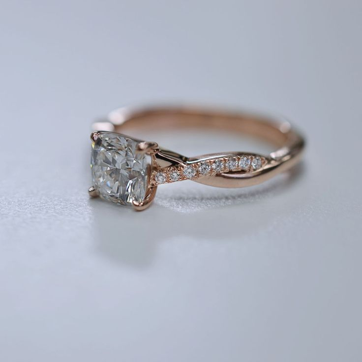 Rose Gold Diamond Engagement Ring.