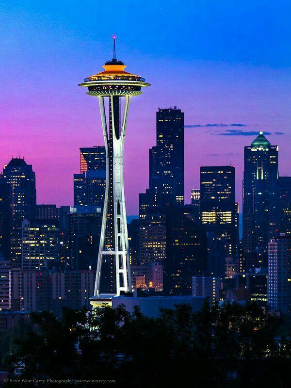 Seattle Washington State Usa Seattle Photography Space Needle